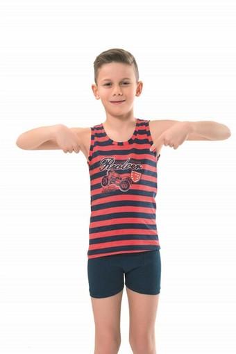 ANIT - Anıt Erkek Çocuk Atlet & Boxer Takımı Çizgili (ANIT4787)