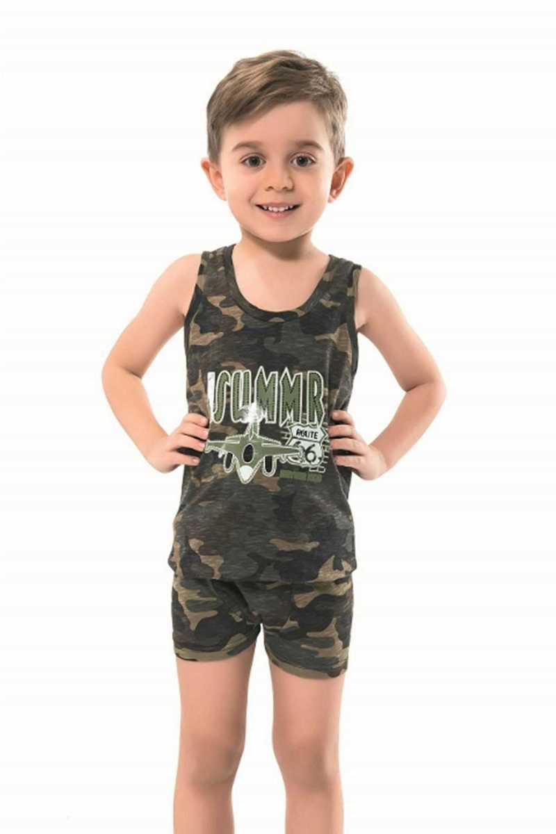 Anıt Erkek Çocuk Atlet & Boxer Takımı Kamuflaj Baskılı (ANIT4792) - Thumbnail