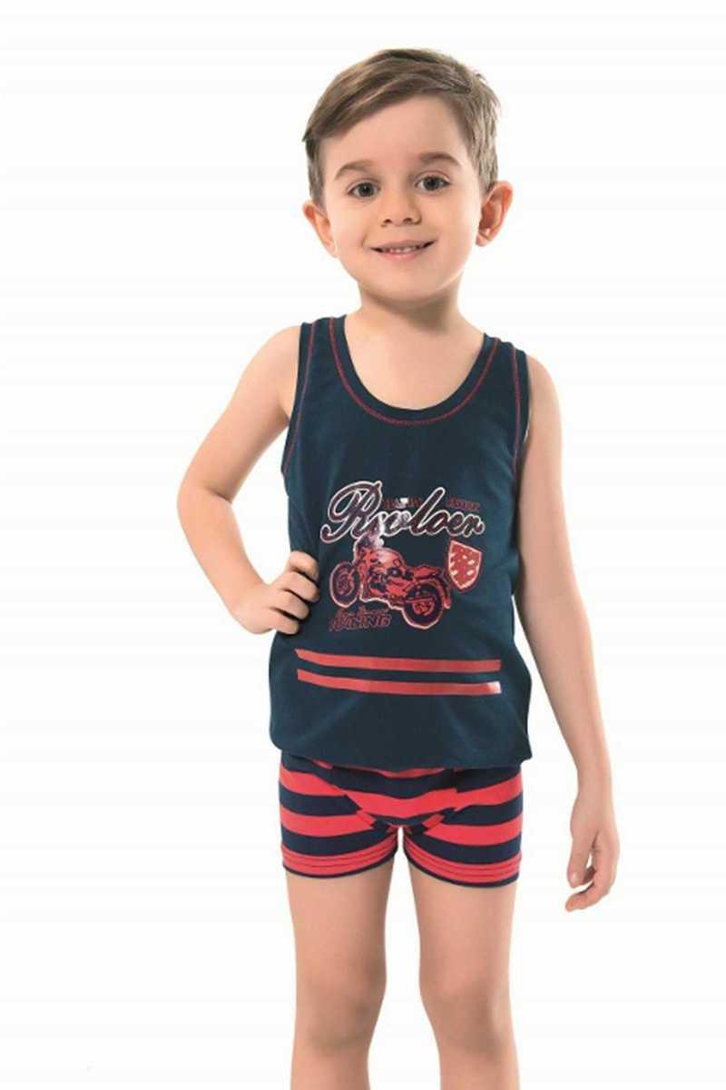 Anıt Erkek Çocuk Atlet & Boxer Takımı Baskılı (ANIT4791) - Thumbnail