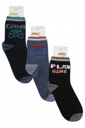 Artı Erkek Çocuk Soket Çorap Zeki (12 adet) - Thumbnail
