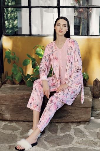 ARTIŞ - Artış Kadın 3lü Pijama Takımı Uzun Kollu