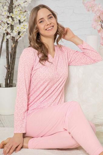Aydoğan Kadın Pijama Takımı Uzun Kol AYDOGAN4229 - Thumbnail