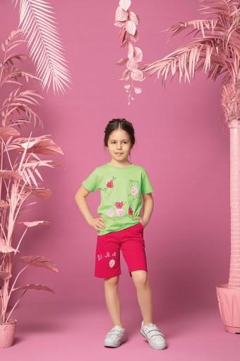 AYDOĞAN - Aydoğan Kız Çocuk Kaprili Pijama Takımı Çilek Desenli