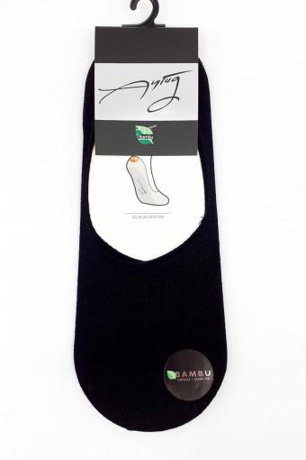 Aytuğ Erkek Babet Çorap Suba Bambu Dikişsiz Silikon Destekli Düz