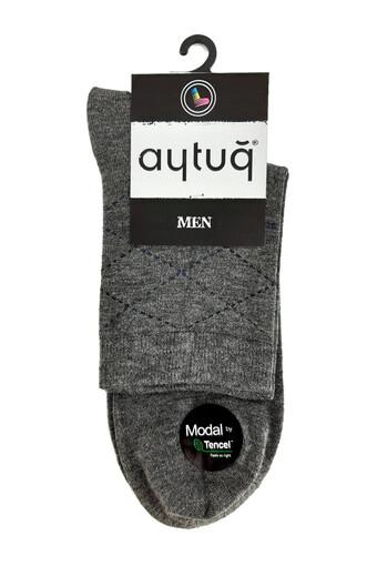 AYTUG - Aytuğ Erkek Çorap Yarım Konç Modal Desen 3 (12 adet)
