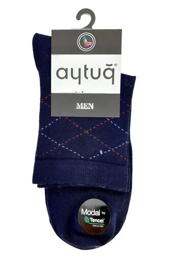 AYTUG - Aytuğ Erkek Çorap Yarım Konç Modal Desen 3 (12 adet) (1)