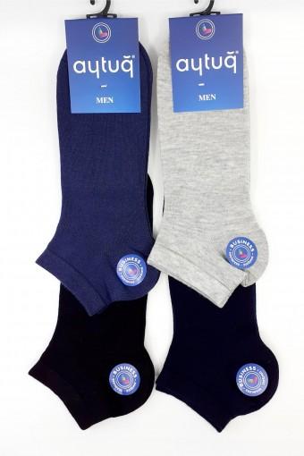 Aytuğ Erkek Patik Çorap Penye Business Dikişsiz Düz (12 adet) - Thumbnail