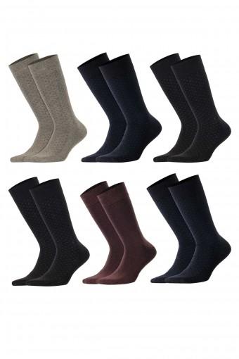 Aytuğ Erkek Soket Çorap Bambu Dikişsiz Desen 16 (12 adet) - Thumbnail