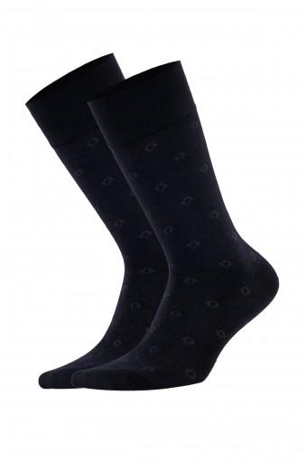 Aytuğ Erkek Soket Çorap Bambu Dikişsiz Desen 18 (12 adet)