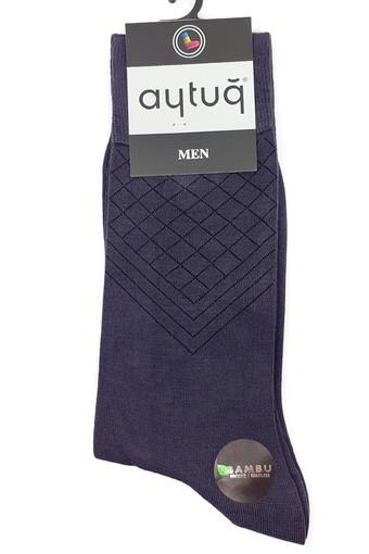 Aytuğ Erkek Soket Çorap Bambu Dikişsiz Desen 41 (12 adet) - Thumbnail