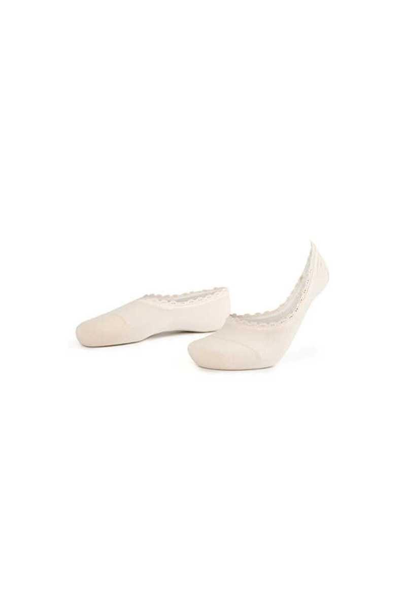 Aytuğ Kadın Babet Çorap Suba Penye Dikişsiz Dantelli Silikon Destekli (12 adet) - Thumbnail