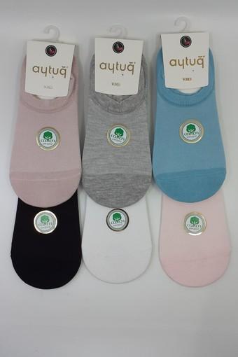 AYTUĞ - Aytuğ Kadın Babet Çorap Suba Penye Dikişsiz Desen 12 (12 adet)