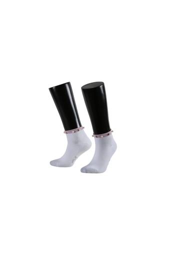 AYTUĞ - Aytuğ Kadın Patik Çorap İncili Penye AYTUG36202 (12 adet)