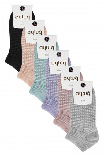 Aytuğ Kadın Patik Çorap Simli (12 adet)