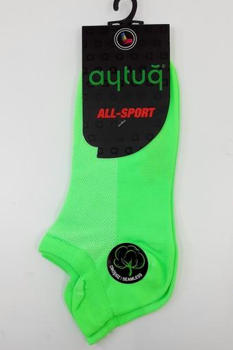 Aytuğ Kadın Patik Çorap Spor Microfiber Neon (12 adet) - Thumbnail