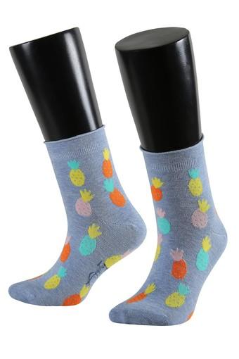AYTUĞ - Aytuğ Kadın Yarım Konç Çorap Ananas Desenli Pamuklu Dikişsiz Funny 1 (12 adet)