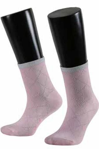 AYTUG - Aytuğ Kadın Yarım Konç Çorap İncili Penye (12 adet)
