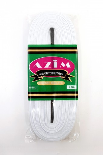 Azim Lastik - Azim Lastik Paça Lastiği 10 Mt Dokuma 20 Mm