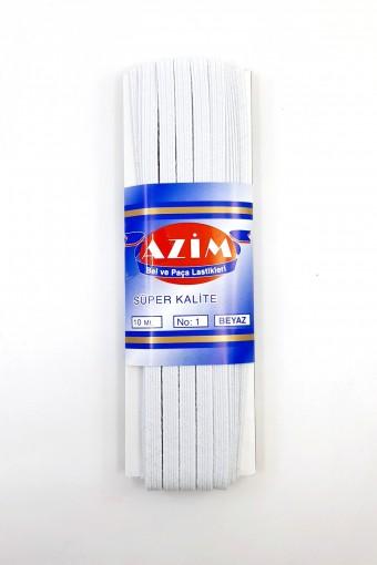 Azim Lastik - Azim Lastik Paça Lastiği No:1 Yassı 10 Mt 6 Mm