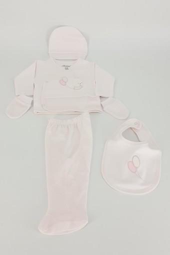 BEBİTOF - Bebitof Unisex Bebek 5'li Zıbın Set Balonlu Tavşan (1)