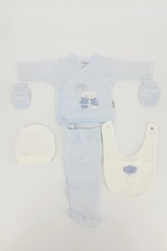 BEBİTOF - Bebitof Unisex Bebek 5'li Zıbın Set Evli Ayıcık (1)