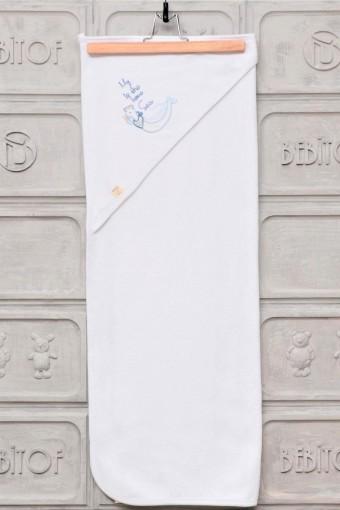 BEBİTOF - Bebitof Vivala Unisex Bebek Havlusu Denizci Martı