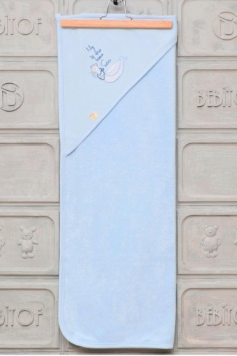 BEBİTOF - Bebitof Vivala Unisex Bebek Havlusu Denizci Martı (1)