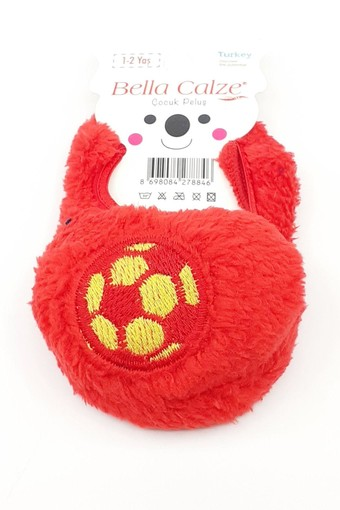 BELLA CALZE - Bella Calze Erkek Çocuk Babet Çorap Peluş Futbol Topu Figürlü (12 adet) (1)
