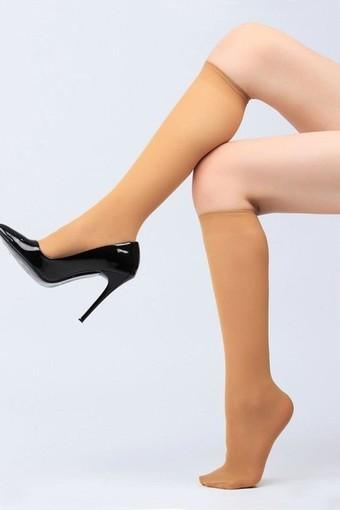 BELLA CALZE - Bella Calze Kadın İnce Dizaltı Çorap Saten Doku 70 (12 adet)