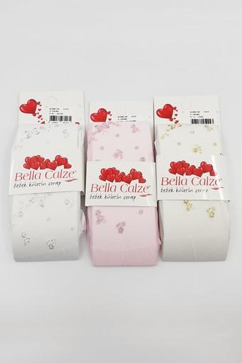 BELLA CALZE - Bella Calze Kız Bebek Külotlu Çorap Mikro Sim (12 adet)