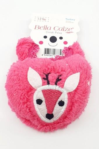 BELLA CALZE - Bella Calze Kız Çocuk Babet Çorap Peluş Hayvan Figürlü (12 adet) (1)