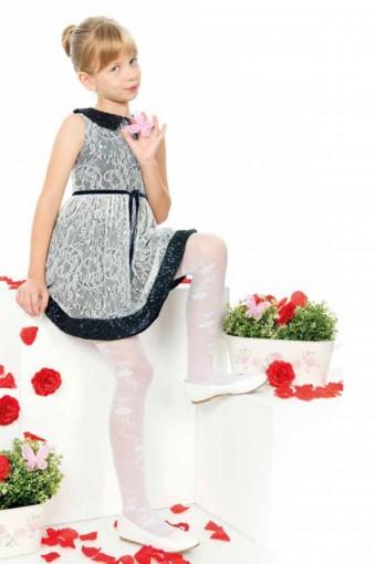ORAL - Bella Calze Kız Çocuk İnce Külotlu Çorap Tina Fit Desenli Parlak 30 Denye (6 adet) (1)