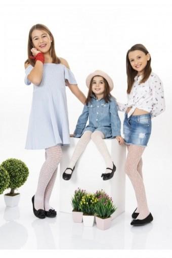 BELLA CALZE - Bella Calze Kız Çocuk Külotlu Çorap Ekose Opak Spring (12 adet)