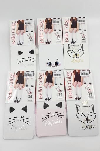 BELLA CALZE - Bella Calze Kız Çocuk Külotlu Çorap Trendy Varak (12 adet)