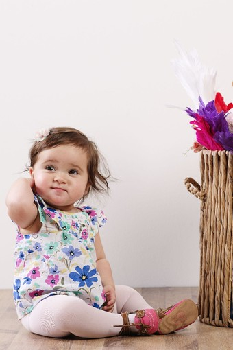 BELLA CALZE - Bella Calze Unisex Bebek Külotlu Çorap Ekstra Cotton (Oral8004) (12 adet)