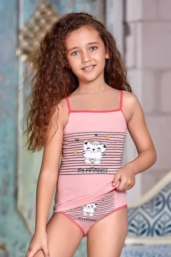 BERRAK - Berrak Kız Çocuk Atlet ve Külot Takımı İp Askılı My Princess