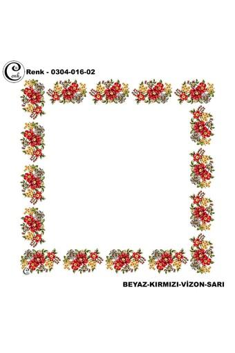 CENK YAZMA - Cenk Kadın Yazma Desen 016 Baskılı İthal 90x90 (1)