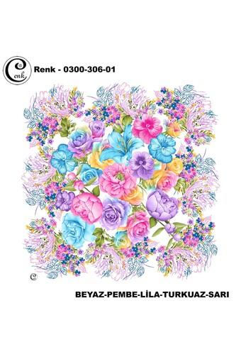 CENK YAZMA - Cenk Kadın Yazma Desen 306 Baskılı İthal 100x100