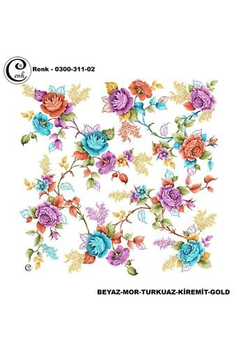 CENK YAZMA - Cenk Kadın Yazma Desen 311 Baskılı İthal 100x100 (1)