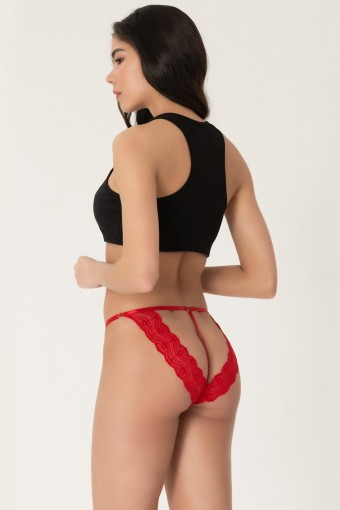 COTTON HİLL - Cotton Hill Kadın Fantezi Külot String Dantelli Bikini (6 adet) (1)