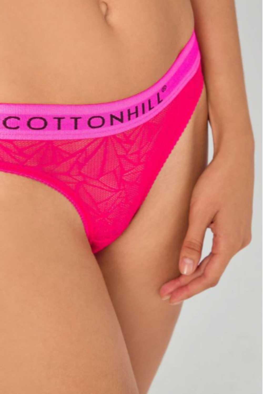 Cotton Hill Kadın Tanga Külot Transparan Dantelli (12 Adet) - Thumbnail