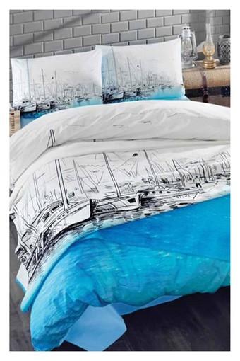 COTTON BOX - Cottonbox Nevresim Takımı Maritime Ship Ranforce Çift Kişilik