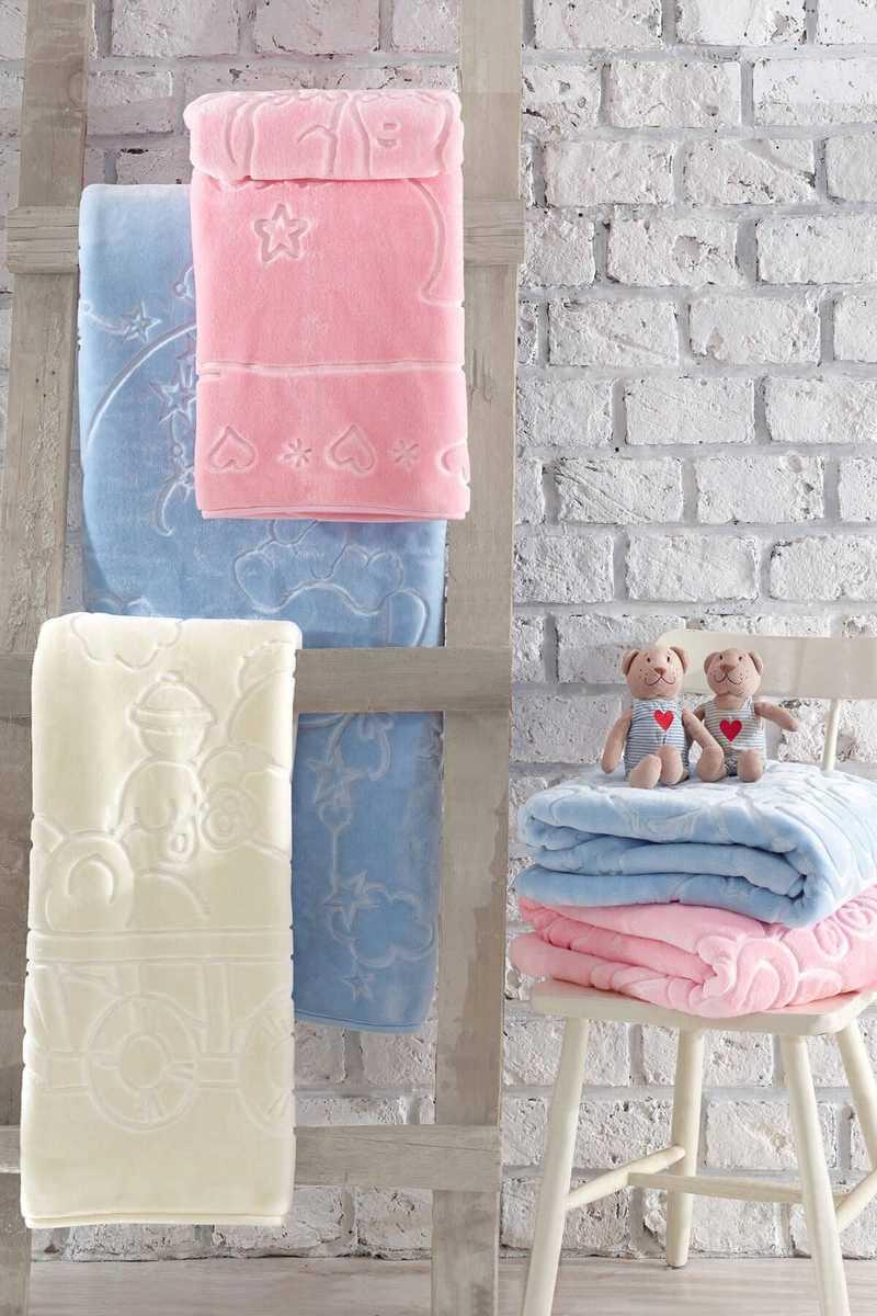 Cottonbox Unisex Bebek Battaniye Emboss - Thumbnail