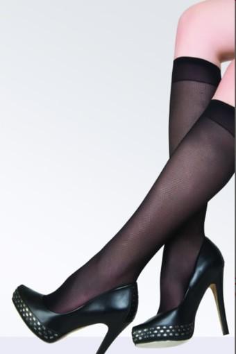 DAYMOD ÇORAP - Daymod Kadın İnce Dizaltı Çorap Ose Mikro Rete Desenli (12 adet)