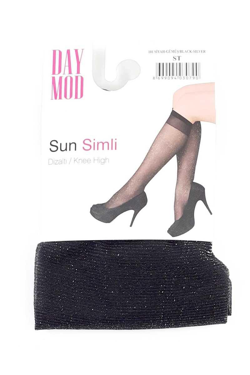 Daymod Kadın İnce Dizaltı Çorap Sun Simli (12 adet)