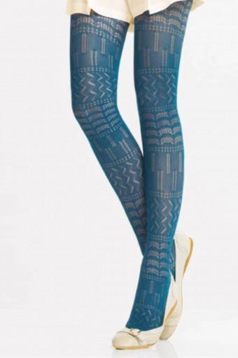 DAYMOD - Daymod Kadın İnce Külotlu Çorap Daisy File Desenli (6 adet)