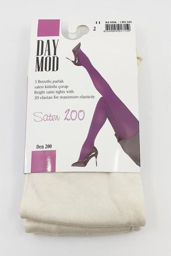 DAYMOD ÇORAP - Daymod Kadın İnce Külotlu Çorap Saten 200 Denye (6 adet) (1)