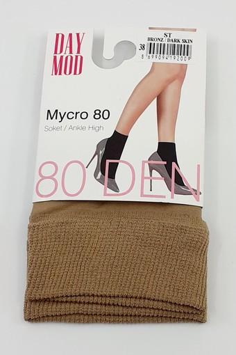 DAYMOD ÇORAP - Daymod Kadın İnce Soket Çorap Mikro 80 (12 adet) (1)