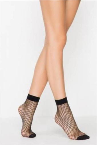 DAYMOD - Daymod Kadın İnce Soket Çorap Pesca File Desenli (12 adet)