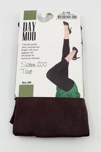 DAYMOD ÇORAP - Daymod Kadın Tayt (Çorap) Saten 200 (6 adet) (1)